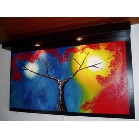 cuadros en oleo decorativos con luces en remate