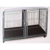 Gaiola Para Cães Canil Duplo Inferior Com Rodinha 120x80x60