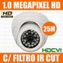 Camera Dome Hdcvi Infra 25m Hd 720p Compativel C/ Intelbras