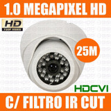 Camera Dome Hdcvi Infra 25m Hd 720p Compativel C/ Intelbras