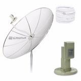 Antena Parabólica Completa - 1,5m - Multiponto - Cromus