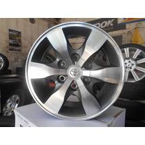 04 Rodas Toyota Hilux Kr R32 Aro 16 6x139 Grafite Diamantada