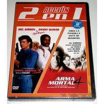 Paquete Arma Mortal 3 Y 4 En Dvd!! 2 Discos, Mel Gibson! Mdn