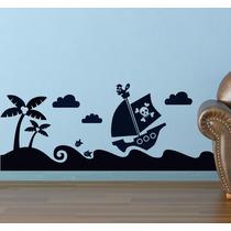 Bondai Vinilos Decorativos Infantil Barco Pirata Dibujo Mar