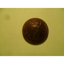 Antiguo Boton Años De 1800 S. Bronce.no. 7.