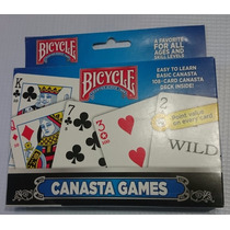 Naipes Poker P/ Canasta Marca Bicycle Originales (2 Mazos)