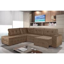 Sofa Canto Retrátil E Chaise Facility Maguimoveis