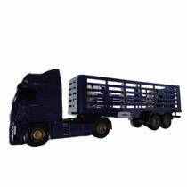 Caminhão Carreta Voyager Boiadeiro - Roma - 1350 Azul 39.5cm