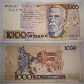 Cedulas De Mil Cruzados 1000 Cruzados - Dinheiro Antigo