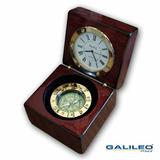 Brujula Reloj Galileo Caja Madera Fluido Regalo Empresarial