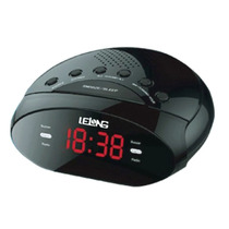 Rádio Relógio Digital Duplo Alarme Lelong Despertador Am Fm