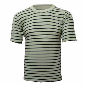 Camiseta 100% Algodão Listrada L 39