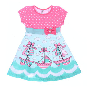 Vestido Infantil Feminino Laço Turma Da Malha - Domanikids