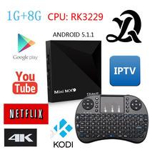 Mini Mx9 Rupa 4k C/mini Teclado 3d Rom 8gb Tv Box Android 5