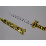 Espada Bainha Dourada Fantasia Infantil Gladiador Cavaleiro