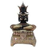 Figura Decorativa De Buda Madera Con Dorado