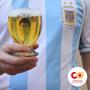 Vaso Vidrio Chopp Cerveza Balon De Oro Lionel Messi Cobazar