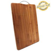 Tábua De Corte Carne Bambu Churrasco Cozinha Alça