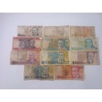 11 Cédulas De Dinheiro, Notas Antigas Frete Grátis (cod:17g)