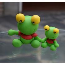 Sapo Pepe Souvenirs En Porcelana Fría