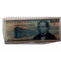Billete 50 Cincuenta 1981 Morelos Azul