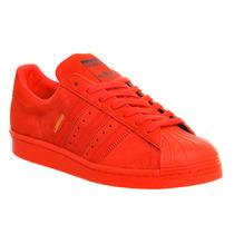 Adidas Superstar London Originales Rojo Gamuza Paris Shangai