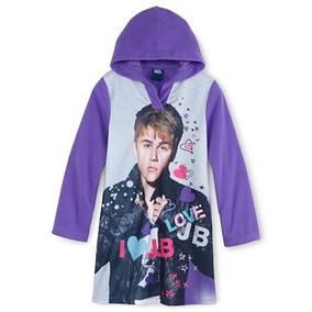 Pijama 10 Anos Nina Justin Bieber Camison Hoodie Super Suave