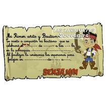 Jake Y Los Piratas Tarjetas Personalizadas Para Imprimir