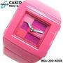 Relógio Casio Fem Baby-g Rosa W100 Metros Bga-200-4edr