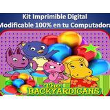 Kit Imprimible Backyardigans Fiesta Cumpleaño Torta Princesa