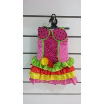 Disfraz De Rumbera Colorida Niña Nuevo Original Carnavalito