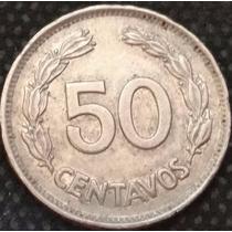 Moeda Equador 50 Centavos 1963