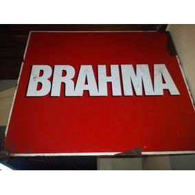 Cartel De Cerveza Brahma De Chapa Pint, Doble Faz 45 X 40 Cm