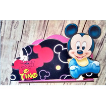 Servilleteros Souvenirs Mickey Mouse Bebe X 6unidades