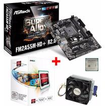 Kit Placa Mãe Asrock Fm2a55m-hd+ Processador A4 4000 3.2ghz
