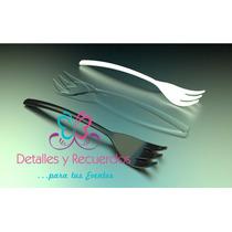Mini Tenedor Cuchara Cubiertos Mesas Postres Desechables 10c
