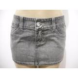 Mini Saia Jeans Preta Curta Tribo De Rua Tam 36 Veste 42