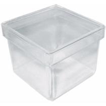 35 Caixinha Acrílica 5x5 Incolor Transparente Lembrancinha