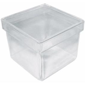 50 Caixinha Acrílica 5x5 Incolor Transparente Lembrancinha