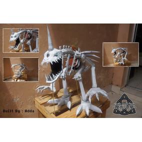 Projeto Papel ( Paper Craft ) Skullgreymon Digimon