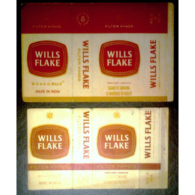 Marquillas De Cigarrillos Wills Flake Box 10 India 1975