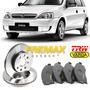 Kit Disco + Pastilha Dianteiras Gm Corsa Hatch Maxx 1.4 2012