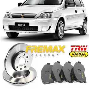Kit Disco + Pastilha Dianteiras Gm Corsa Sedan Maxx 1.4 2008