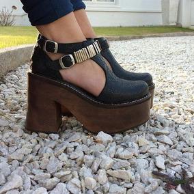 Plataforma Zapato Cuero Mujer Karamelho Primavera Verano1617
