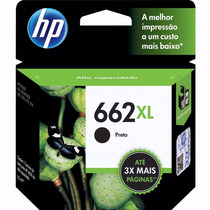 Cartucho Hp 662xl Preto Pt Original 2516 3516 1516 -