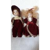 Bonecas Fashion, De Porcelana, (casal), 17 Cmts, Antigas.