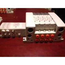 Manifold Neumatico Con 4 Válvulas Smc