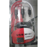 Cable Midi-usb Interfaz Pc Convertidor+ Envío.