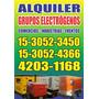 Alquiler De Grupos Electrogenos (generadores Electricos)