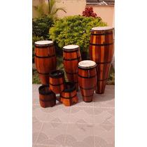 Atabaque Trio Madeira Tarraxa 60 - 70 - 80cm